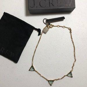J. Crew Triad  Green Necklace